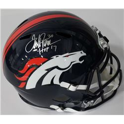 "Terrell Davis Signed Broncos Full-Size Speed Helmet Inscribed ""HOF 17"" (Radtke COA)"