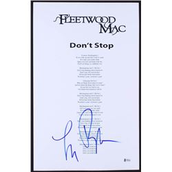"Lindsey Buckingham Signed Fleetwood Mac ""Don't Stop"" 12x19 Lyrics Sheet (Beckett Hologram)"