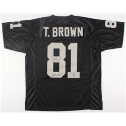 "Tim Brown Signed Raiders Jersey Inscribed ""HOF 2015"" (Brown Hologram)"