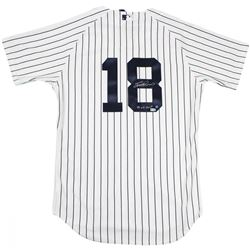 "Scott Brosius Signed Yankees Jersey Inscribed ""98 WS MVP"" (Steiner COA)"
