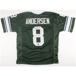 "Morten Andersen Signed Michigan State Spartans Jersey Inscribed ""Go Green"" (Radtke COA)"