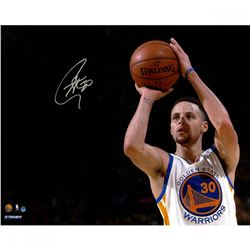 Stephen Curry Signed Warriors 16x20 Photo (Steiner COA)