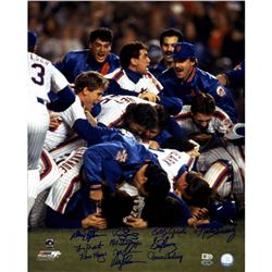 1986 New York Mets 16x20 Photo Team-Signed by (11) with Keith Hernandez, Darryl Strawberry, Davey Jo