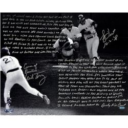"Bucky Dent  Mike Torrez Signed ""1978 American League East Tie-Breaker Game"" 16x20 Photo with Handwri"