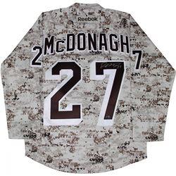 Ryan McDonagh Signed Rangers Camo Jersey (Steiner COA)