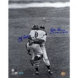 "Yogi Berra  Don Larsen Signed Yankees 11x14 Photo Inscribed ""WS PG 10-8-56"" (Steiner COA)"