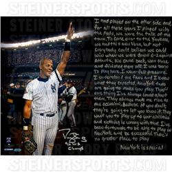 Darryl Strawberry Signed Yankees  1996 World Series  16x20 Photo with Handwritten Story Inscription