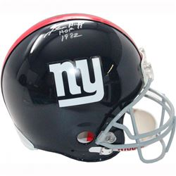 "Sam Huff Signed Giants Full Size Helmet Inscribed ""HOF 1982"" (Steiner COA)"