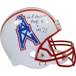 "Earl Campbell Signed Oilers Full Size Throwback Helmet Inscribed ""HT '77""  ""HOF 91"" (Steiner COA)"