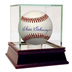 Charles Gehringer Signed OAL Baseball (JSA COA)