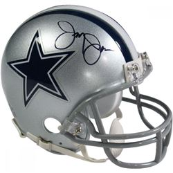 Jerry Jones Signed Cowboys Mini Helmet (Beckett COA)
