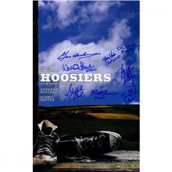 Hoosiers 10x16 Mini Movie Poster Cast-Signed by (8) with Gene Hackman, Brad Boyle, Steve Hollar, Sco
