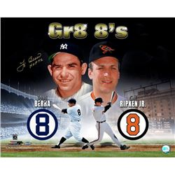 "Yogi Berra Signed ""Gr8 8's"" 16x20 Photo Inscribed ""HOF 72"" (Steiner COA)"