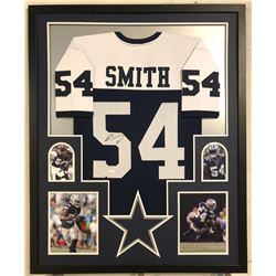 Jaylon Smith Signed Cowboys 34x42 Custom Framed Jersey (JSA COA)