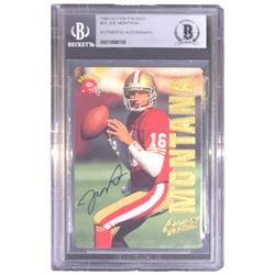 Joe Montana Signed 1993 Action Packed #23 (BGS Encapsulated)