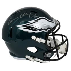 "Carson Wentz Signed Eagles Full-Size Speed Helmet Inscribed ""AO1"" (Fanatics)"