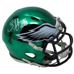Brian Dawkins Signed Eagles Riddell Chrome Speed Mini Helmet (JSA COA)