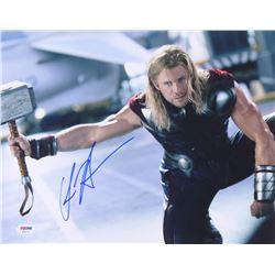 "Chris Hemsworth Signed ""The Avengers"" 11x14 Photo (PSA COA)"