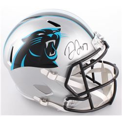 Devin Funchess Signed Panthers Full-Size Speed Helmet (JSA COA)