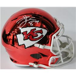 Travis Kelce Signed Chiefs Chrome Full-Size Speed Helmet (Beckett COA)