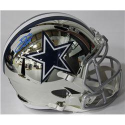 Emmitt Smith Signed Cowboys Chrome Full-Size Speed Helmet (Beckett COA)