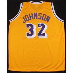 Magic Johnson Signed Los Angeles Lakers Jersey (PSA COA)