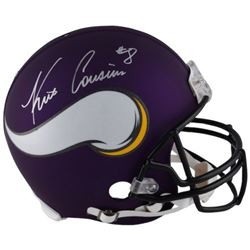 Kirk Cousins Signed Vikings Full-Size Authentic On-Field Helmet (Fanatics Hologram)