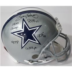 Tony Dorsett Signed Cowboys Authentic On-Field Full-Size Helmet with (5) Inscriptions (Beckett COA)