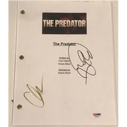 "Olivia Munn  Jacob Tremblay Signed ""The Predator"" Full Movie Script (PSA COA)"