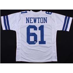 "Nate Newton Signed Cowboys Jersey Inscribed ""SB XXVII, XXVIII, XXX Champs"" (Radtke COA  JSA COA)"