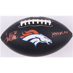 "Terrell Davis Signed Broncos Logo Football Inscribed ""1998 NFL MVP"" (Radtke COA  Davis Hologram)"