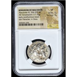 336-323 BC Kingdom of Macedon Alexander III AR (Silver) Tetradrachm (17.10g) Early Posthumous Issue