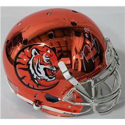 A.J. Green Signed Bengals Full-Size Chrome Helmet (JSA COA)