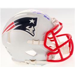 "Malcolm Butler Signed Patriots Mini Helmet Inscribed ""SB LI Champs"" (Steiner COA)"