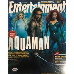 Jason Momoa Signed Aquaman Entertainment Magazine 11x14 Photo (PSA COA)