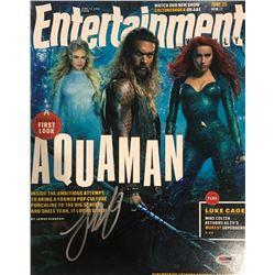Jason Momoa  James Wan Signed Aquaman Entertainment Magazine 11x14 Photo (PSA COA)