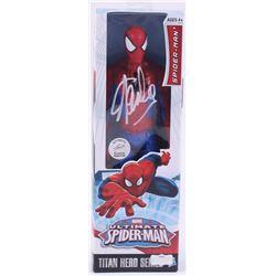 """Stan Lee Signed """"Spider-Man"""" Spider-Man Marvel Titan Hero Series Figure (Radtke Hologram  Lee Hologr"""