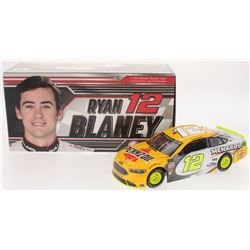 Ryan Blaney Signed NASCAR #12 2018 Penzoil / Menard Fusion 1:24 Premium Action Diecast Car (PA COA)