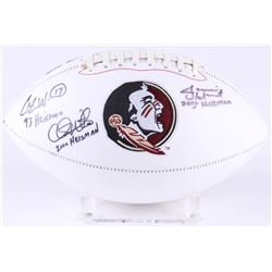 Charlie Ward, Chris Weinke  Jameis Winston Signed Florida State Seminoles Logo Football with Multipl