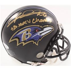 "Rod Woodson Signed Ravens Mini-Helmet Inscribed ""SB XXXV Champs"" (JSA COA)"