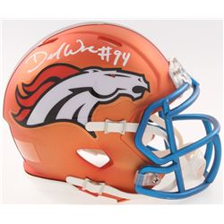 DeMarcus Ware Signed Broncos Blaze Mini Speed Helmet (JSA COA)