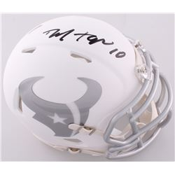 DeAndre Hopkins Signed Texans Custom Matte White ICE Mini Helmet (JSA COA)