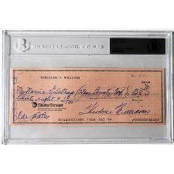 Ted Williams Signed Personal Bank Check (PSA Encapsulated)