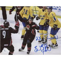 "Brad Marchand Signed Team Canada 8x10 Photo Inscribed ""2x WJC Gold"" (JSA COA)"