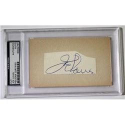 Joe Louis Signed Cut (PSA Encapsulated)
