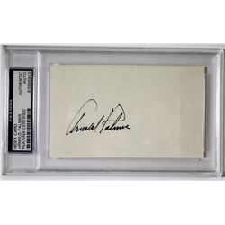 Arnold Palmer Signed Index Card (PSA Encapsulated)