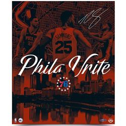 "Ben Simmons Signed 76ers ""City United"" 20x24 Photo (UDA COA)"