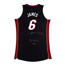 "LeBron James Signed LE Heat Jersey Inscribed ""Heatles"" (UDA COA)"