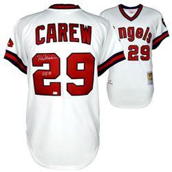 "Rod Carew Signed Angels Jersey Inscribed ""HOF 91"" (Fanatics Hologram)"