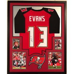 Mike Evans Signed Buccaneers 34x42 Custom Framed Jersey (JSA COA)